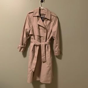 LONDON FOG VTG trench with zip out wool lining